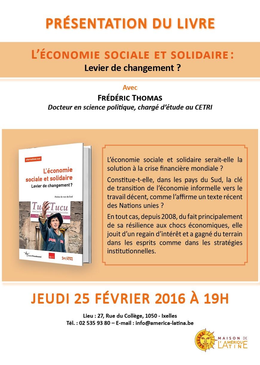 L conomie sociale et solidaire levier de changement - Chambre de l economie sociale et solidaire ...